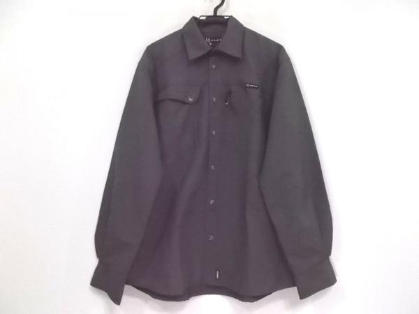HAGLOFS(ホグロフス) 長袖シャツ サイズL メンズ美品  グレー