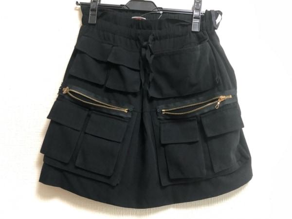 VIVIENNE TAM(ヴィヴィアンタム) スカート レディース 黒 ウエストゴム/ポケット