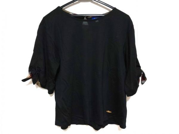 ブルーレーベルクレストブリッジ 半袖カットソー サイズ38 M レディース美品  黒