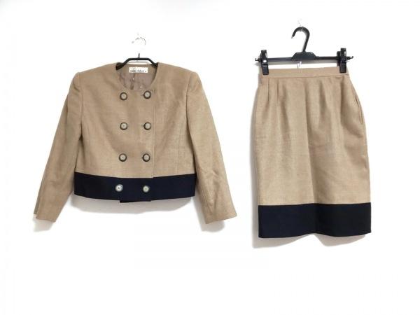 MISS CHLOE(クロエ) スカートスーツ サイズ40 M レディース ブラウン×黒 肩パッド