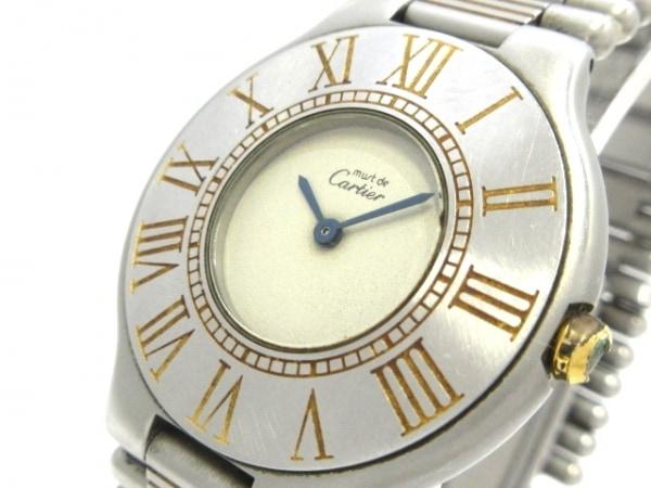Cartier(カルティエ) 腕時計 マスト21 - レディース アイボリー