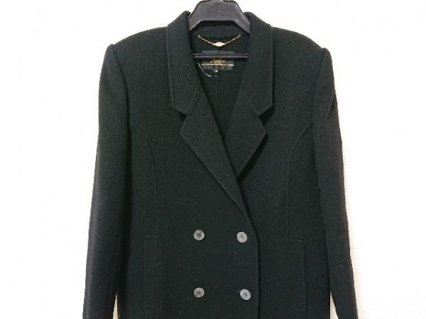 Leilian(レリアン) コート サイズ9 M レディース 黒 肩パッド/冬物