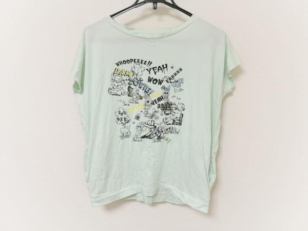 ビューティフルピープル ノースリーブTシャツ レディース ライトグリーン×マルチ
