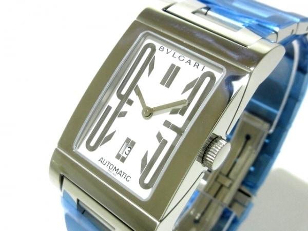 reputable site 6fdaa 70561 BVLGARI(ブルガリ) 腕時計新品同様 レッタンゴロ RT45S メンズ SS 白