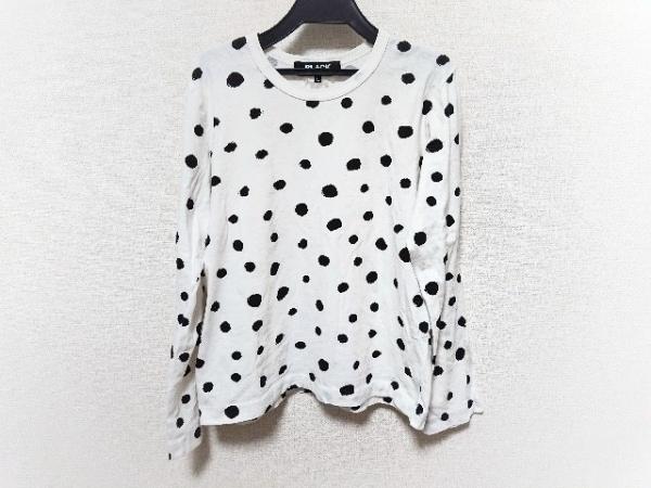 ブラックコムデギャルソン 長袖Tシャツ サイズL レディース美品  白×黒 ドット柄