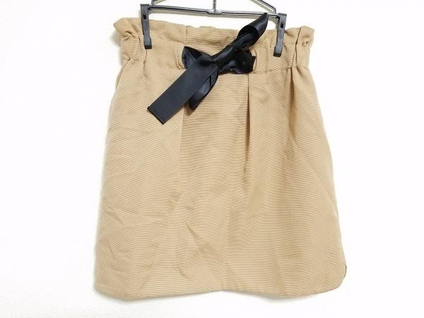 Apuweiser-riche(アプワイザーリッシェ) スカート サイズ2 M レディース ベージュ×黒