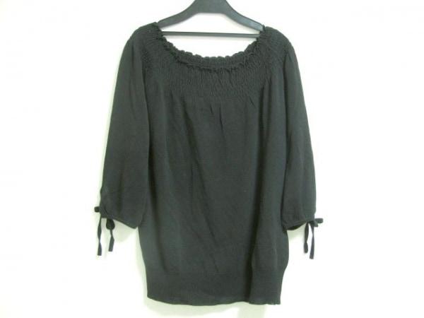 23区(ニジュウサンク) 半袖セーター サイズ45 レディース 黒