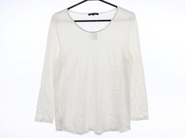 23区(ニジュウサンク) 長袖Tシャツ サイズ44 L レディース美品  アイボリー×シルバー