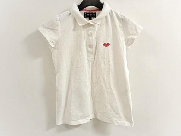 キャロウェイ 半袖ポロシャツ サイズM レディース美品  白×ピンク CHEV18/ハート