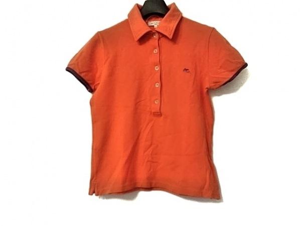 ETRO(エトロ) 半袖ポロシャツ サイズ42 M レディース美品  オレンジ×パープル
