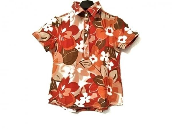 キャロウェイ 半袖ポロシャツ サイズS レディース美品  レッド×オレンジ×マルチ