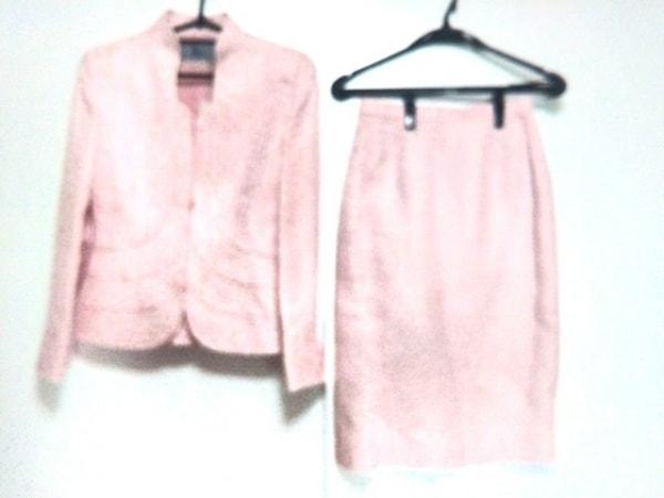 ignes(イグネス) スカートスーツ サイズ38 M レディース美品  ピンク ジップアップ