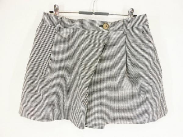 ロイスクレヨン ショートパンツ サイズM レディース美品  黒×白 千鳥格子