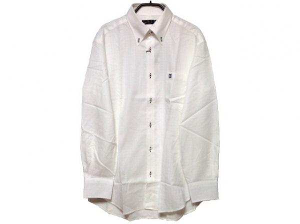 DAKS(ダックス) 長袖シャツ サイズM メンズ美品  白 格子柄