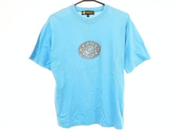 ハンティングワールド 半袖Tシャツ サイズS メンズ ライトブルー×グレー