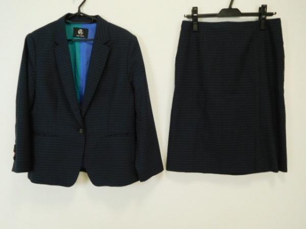PaulSmith(ポールスミス) スカートスーツ レディース 黒×ネイビー チェック柄