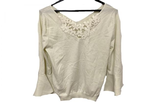 リランドチュール 七分袖セーター サイズ2 M レディース美品  ライトグリーン