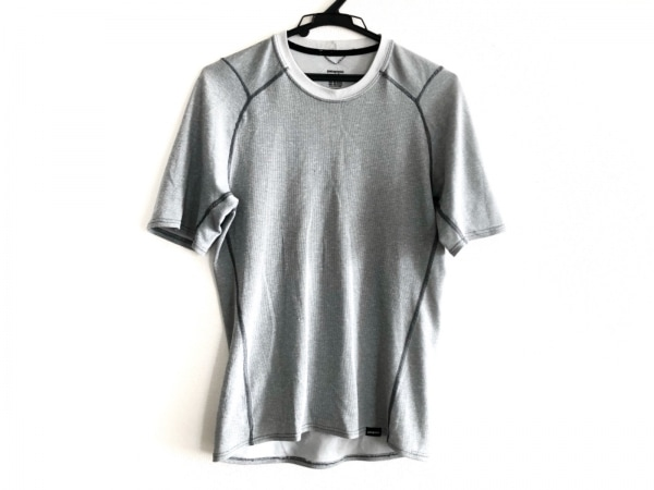 Patagonia(パタゴニア) 半袖Tシャツ サイズM メンズ ライトグレー×グレー