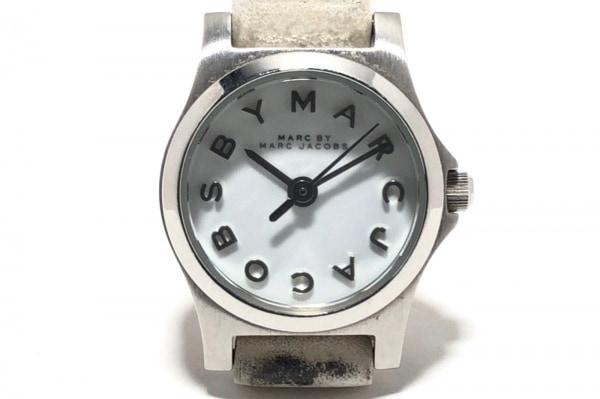 MARC BY MARC JACOBS(マークジェイコブス) 腕時計 MBM1234 レディース 革ベルト 白