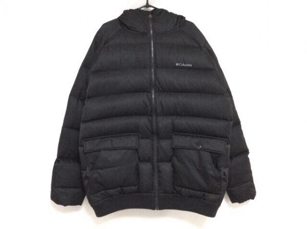 columbia(コロンビア) ダウンジャケット サイズXL メンズ 黒 ジップアップ/冬物