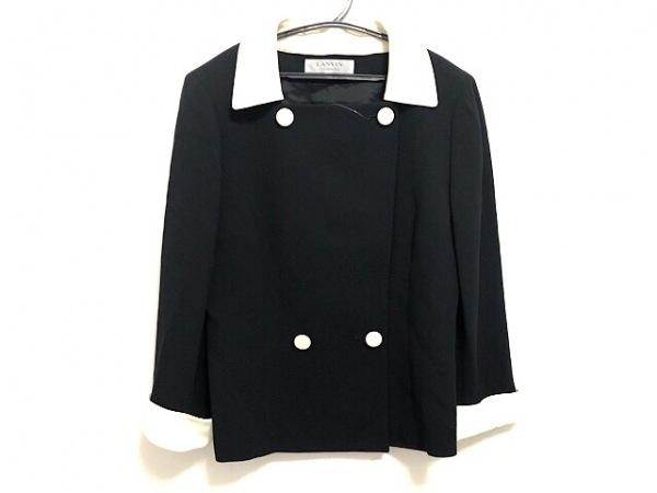 LANVIN(ランバン) ジャケット サイズ40 M レディース 黒×アイボリー La Collection