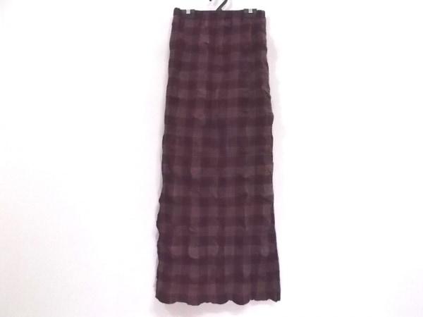 イッセイミヤケパーマネント ロングスカート サイズ2 M レディース美品  チェック柄