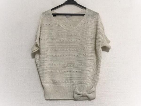 anatelier(アナトリエ) 半袖セーター サイズ38 M レディース アイボリー リボン/ラメ