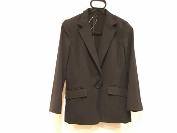 ヴァンドゥ オクトーブル ジャケット サイズ40 M レディース美品  黒 肩パッド