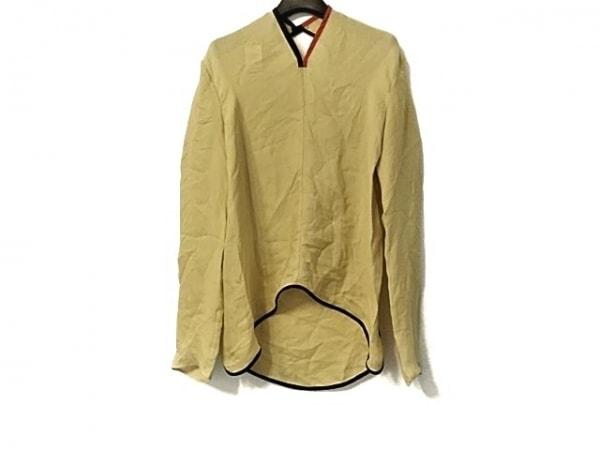アカネ ウツノミヤ 長袖カットソー サイズ38 M レディース美品  イエロー×黒