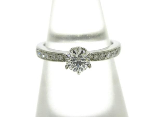 4℃(ヨンドシー) リング新品同様  Pt950×ダイヤモンド 11Pダイヤ/0.225カラット