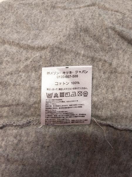MAISON KITSUNE(メゾンキツネ) 半袖Tシャツ サイズS レディース グレー×白