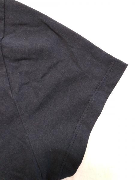 MAISON KITSUNE(メゾンキツネ) 半袖Tシャツ サイズS レディース ネイビー×白