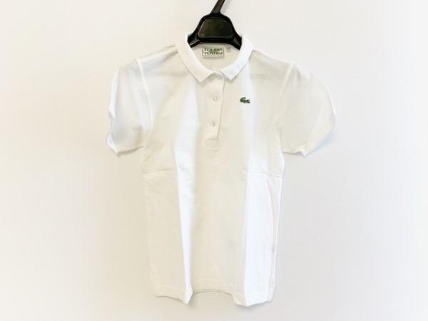 Lacoste(ラコステ) 半袖ポロシャツ サイズ38 M レディース 白