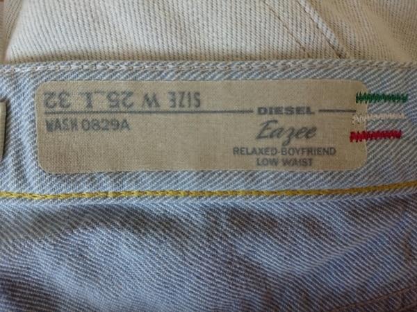 ディーゼル ジーンズ サイズ25 XS レディース EAZEE アイボリー×ライトブルー