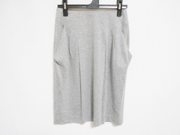 EPOCA(エポカ) スカート サイズ38 M レディース美品  グレー ラメ