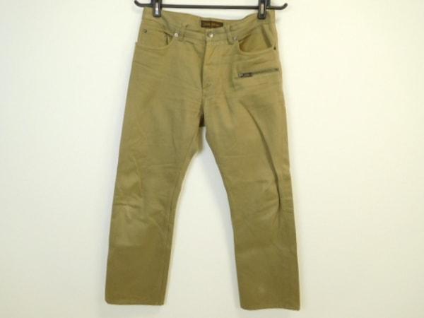 LOUIS VUITTON(ルイヴィトン) パンツ サイズ48 L メンズ グレーベージュ ボタンフライ