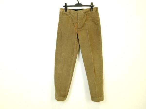 PRADA(プラダ) パンツ サイズ48 M メンズ美品  モカ コーデュロイ/ボタンフライ
