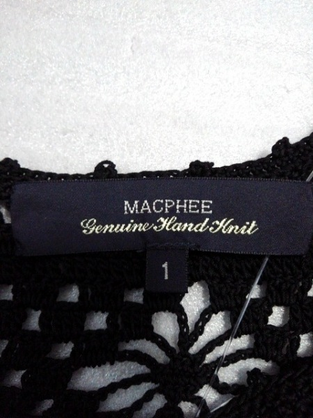 MACPHEE(マカフィ) ワンピース サイズ1 S レディース新品同様  黒 ニット