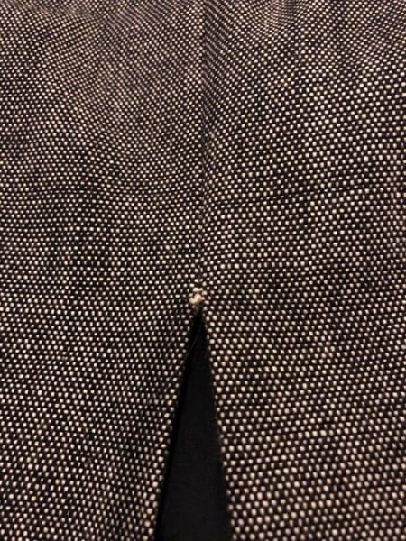 ボディドレッシング スカートスーツ サイズ9 M レディース ダークネイビー×白