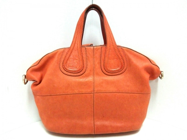 GIVENCHY(ジバンシー) ハンドバッグ ナイチンゲール オレンジ レザー