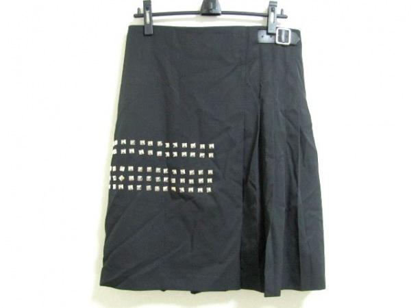 COMMEdesGARCONS(コムデギャルソン) 巻きスカート レディース美品  黒 スタッズ