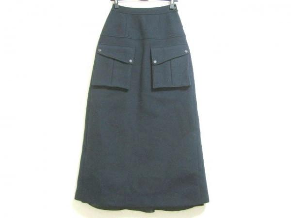 マークバイマークジェイコブス ロングスカート サイズ0 XS レディース ネイビー