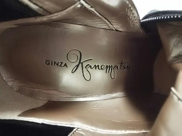 GINZA Kanematsu(ギンザカネマツ) ロングブーツ 23 レディース美品  黒 スエード