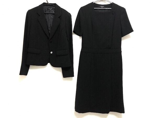 MICHELKLEIN(ミッシェルクラン) ワンピーススーツ サイズ9 M レディース美品  黒