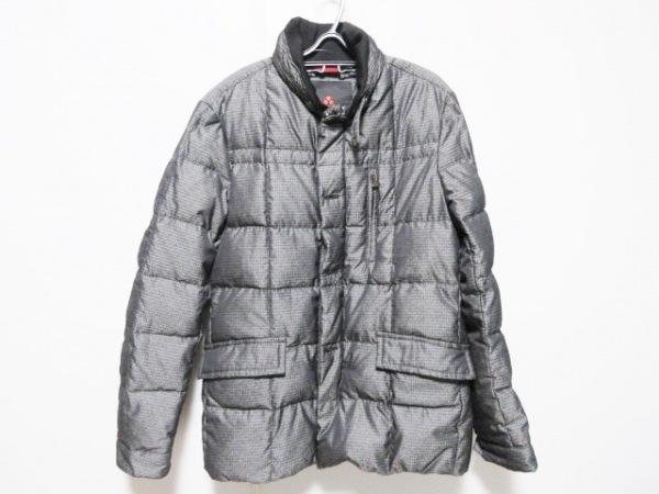 PEUTEREY(ピューテリー) ダウンジャケット サイズM メンズ グレー×黒 冬物