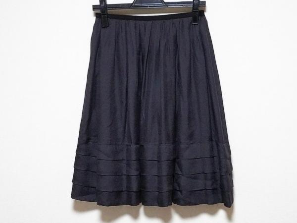 ボディドレッシングデラックス スカート サイズ36 S レディース ダークグレー×黒
