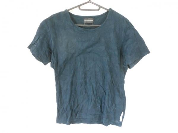 エンポリオアルマーニ 半袖Tシャツ サイズM メンズ ダークネイビー 迷彩柄