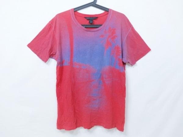 マークバイマークジェイコブス 半袖Tシャツ サイズM メンズ レッド×ブルー
