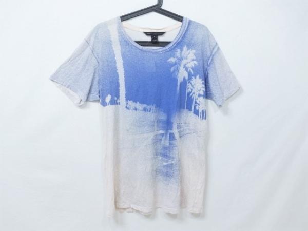 マークバイマークジェイコブス 半袖Tシャツ サイズM メンズ美品  アイボリー×ブルー