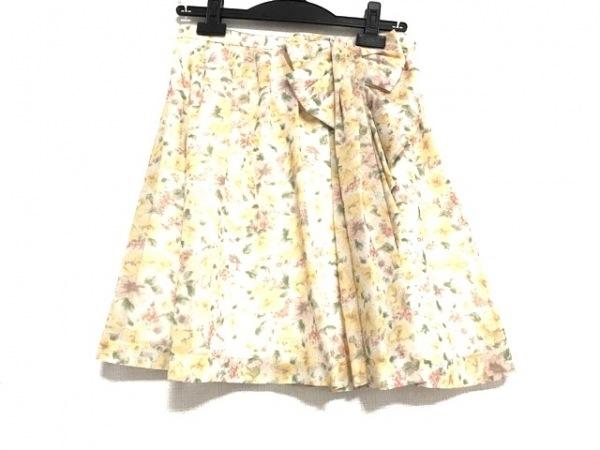 アプワイザーリッシェ ミニスカート サイズ2 M レディース美品  花柄/リボン/プリーツ